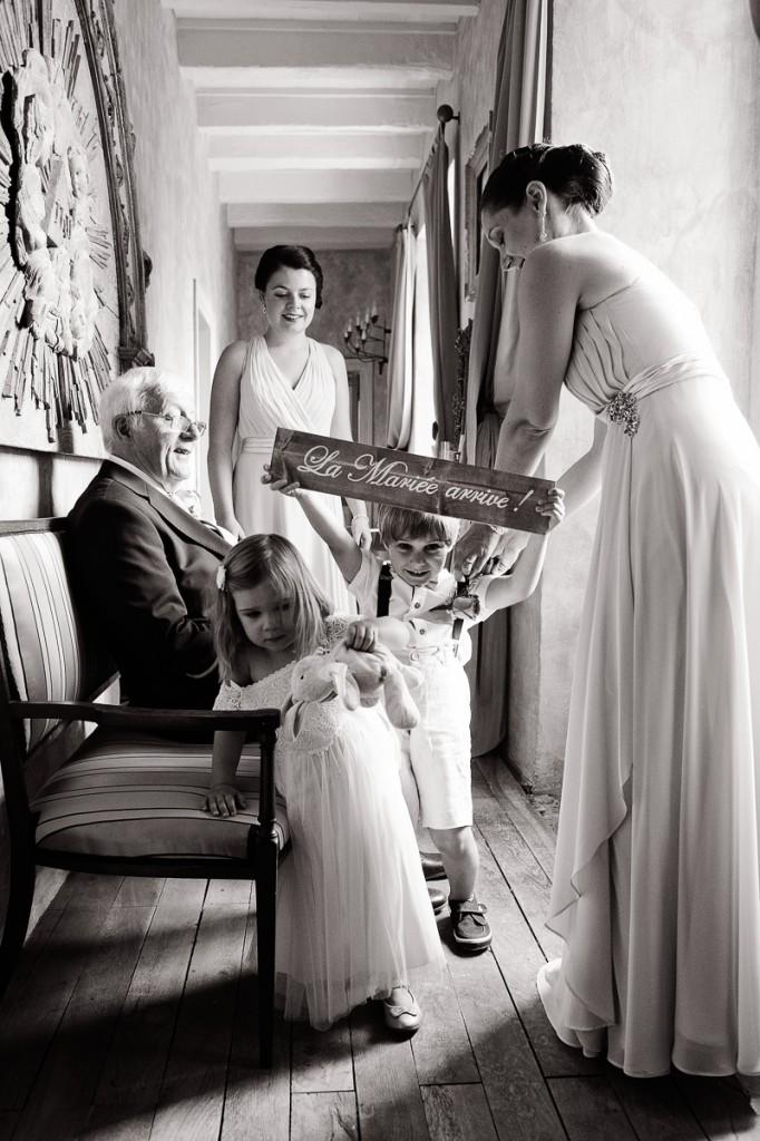 Photo mariage, noir et blanc, Saint Victor Grand'Maison